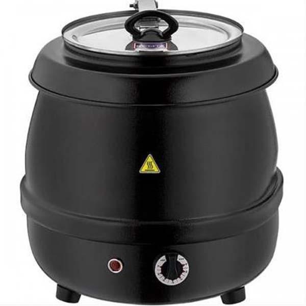 Çorba ısıtıcısı yuvarlak siyah 9 litre