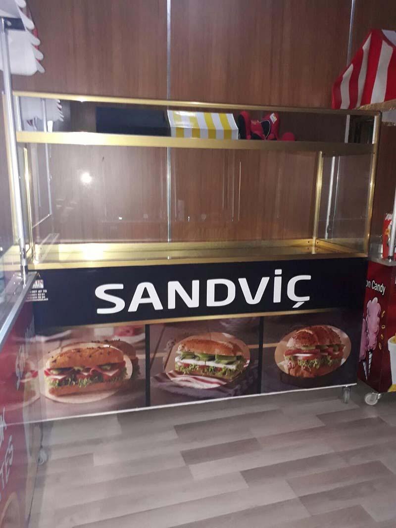 Kahvaltı Sandviç Arabası İmalattan
