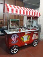 Pamuk Şeker Popcorn Bardakta Süt Mısır Arabası
